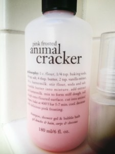 Recipe on the animal cracker philosophy bubble bath bottle