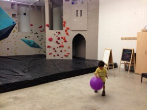 Climbing wall if you go to Seattle Bouldering project