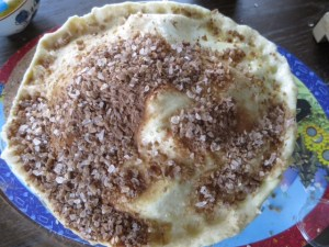 trader joe's cinnamon sugar on pie