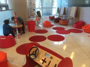 Free kids' area at Seattle Art Museum