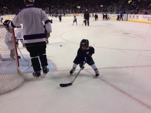 seattle thunderbirds hockey with kids