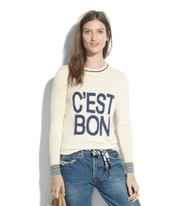 c'est bon shirt from Madewell
