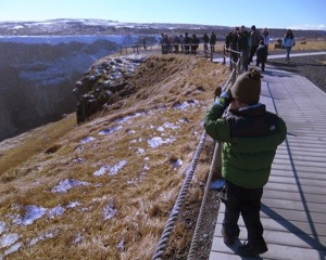 Gulfoss Icleand with kids