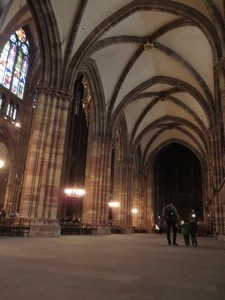 traveling in strasbourg with kids visiting a cathedral