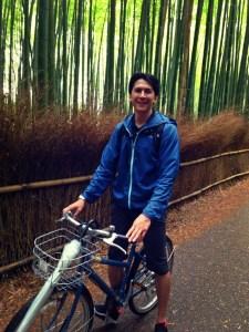 biking through arashiyama japan