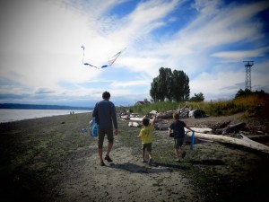 beach day at Discovery Park