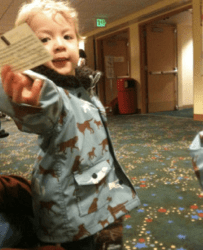 toddler at Seattle Children's Theatre