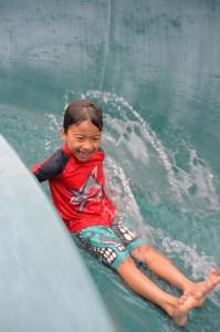 mounger pool waterslide