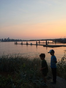 sunset on the north shore in vancouver