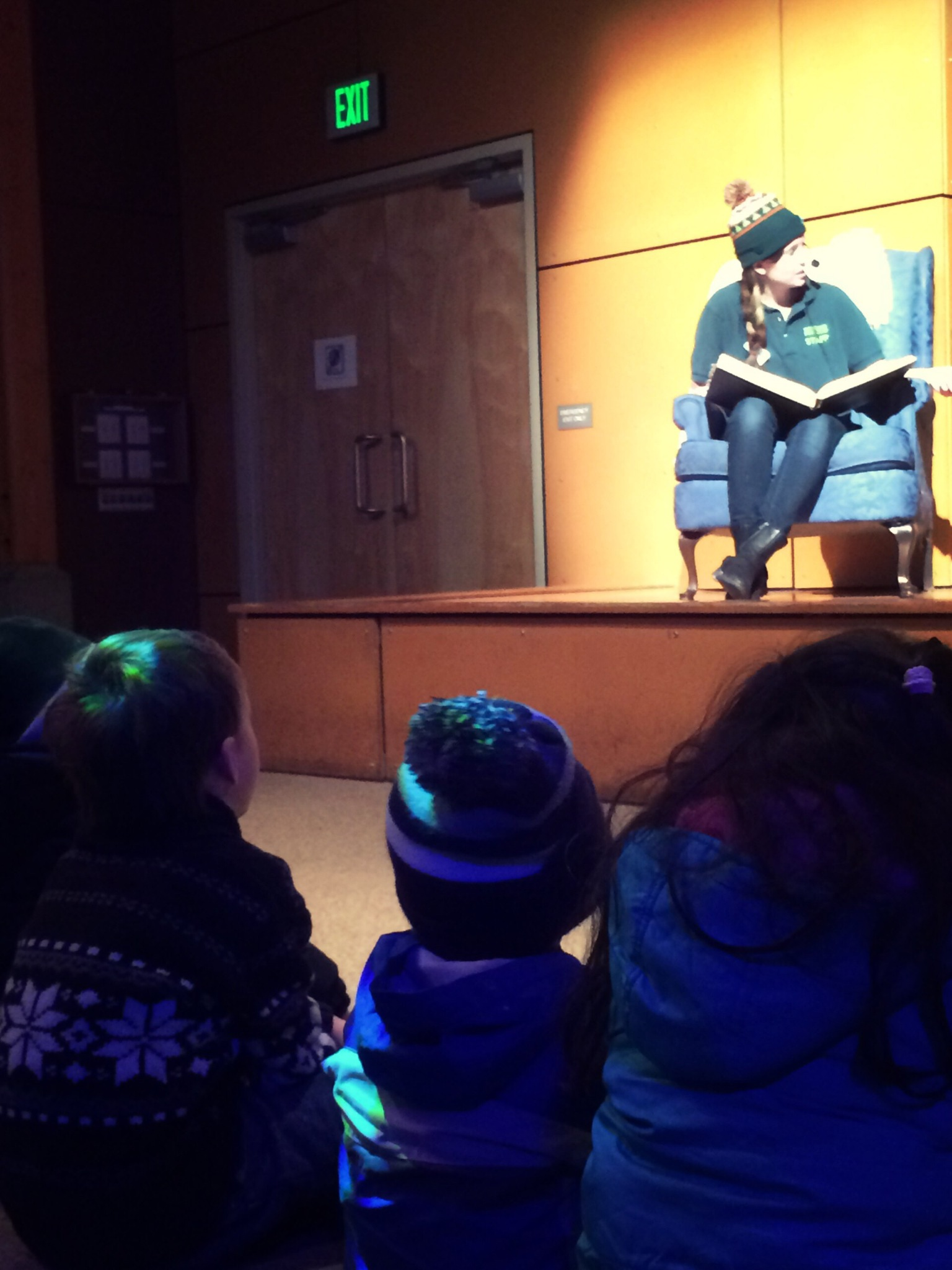 storytime on stage at wildlights