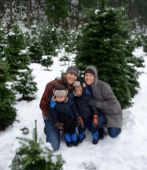 first time cutting a christmas tree near north bend