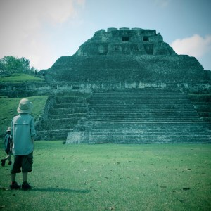 a really cool ruin in belize with kids you take a ferry to visit