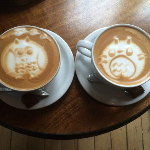 where to find beautiful coffee art in seattle like totoro or owls