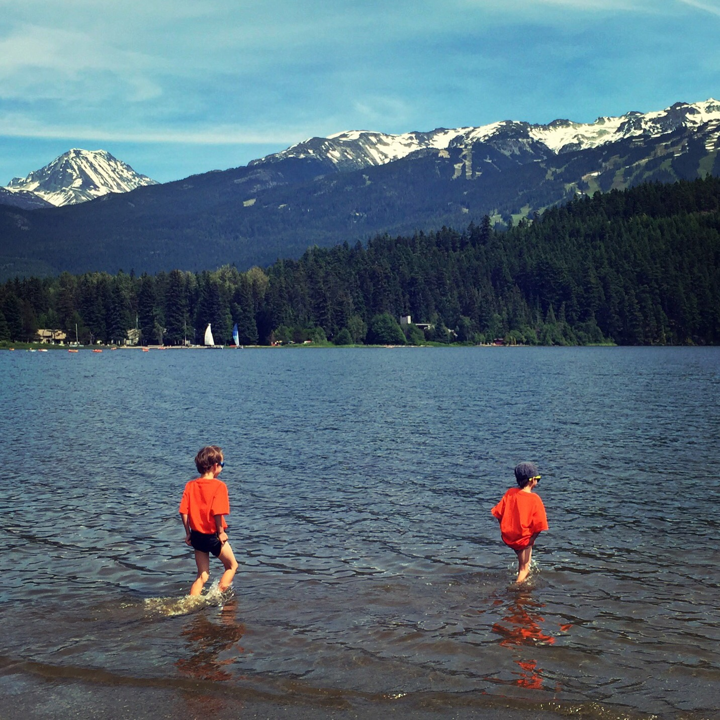Alta Lake at Rainbow Park in Whistler in Summer