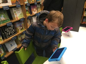 First day of Amazon Books in Seattle and it has a great selection for children