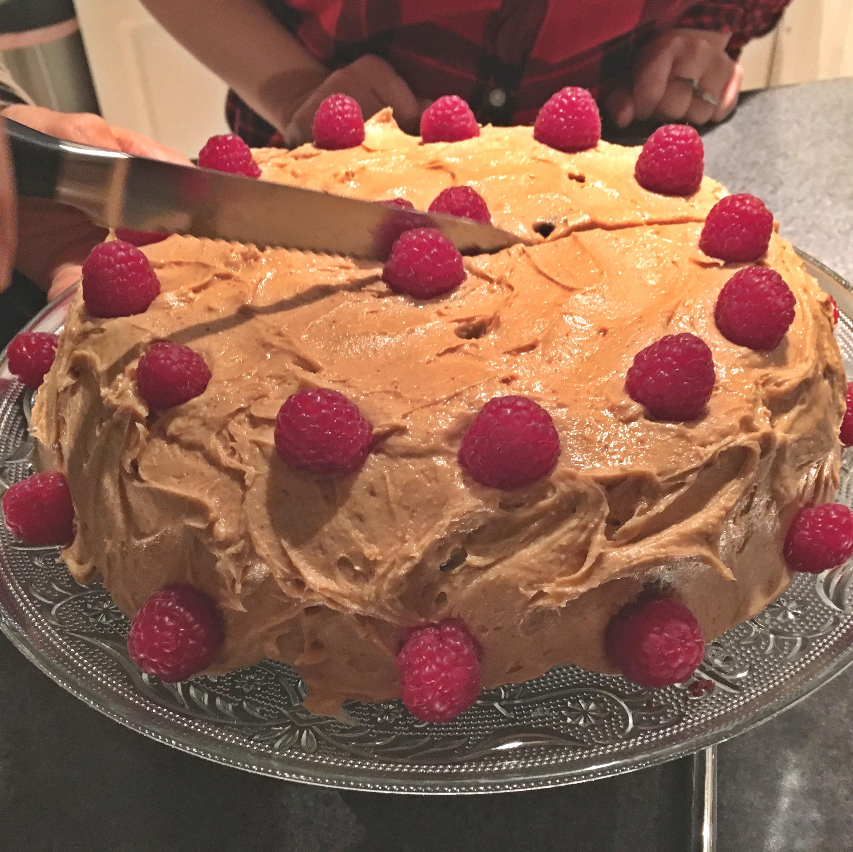 homemade gluten-free peanut butter cake
