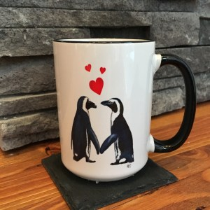 cute penguin mug from Zazzle