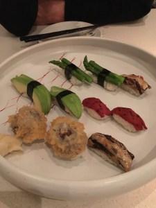 vegetarian sushi at miku sushi