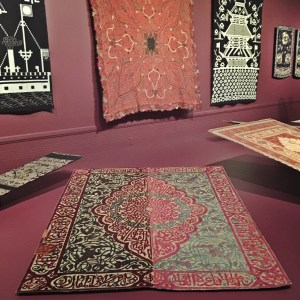turkish rug with a blessing at Seattle Asian Art Museum