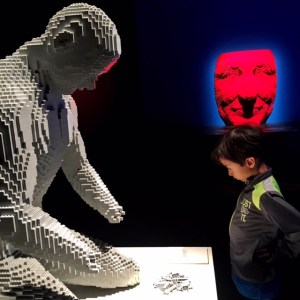 Art of the brick with kids at the Pacific Science Center in Seattle