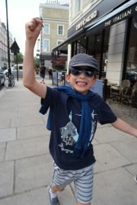 Indigo popover worn in London