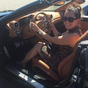 Driving in a Ferrari California T