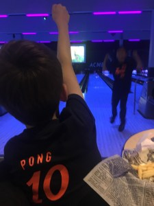 Bowling at Acme Bowl in Tukwila with kids
