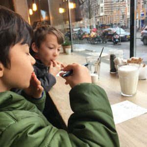 Bakery near Hotel Roemer in Amsterdam with kids