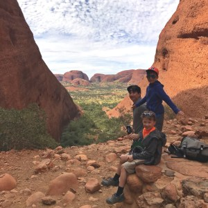 Hiking the Olgas with kids
