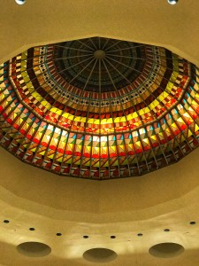 Stained glass dome at South Coast plaza mall