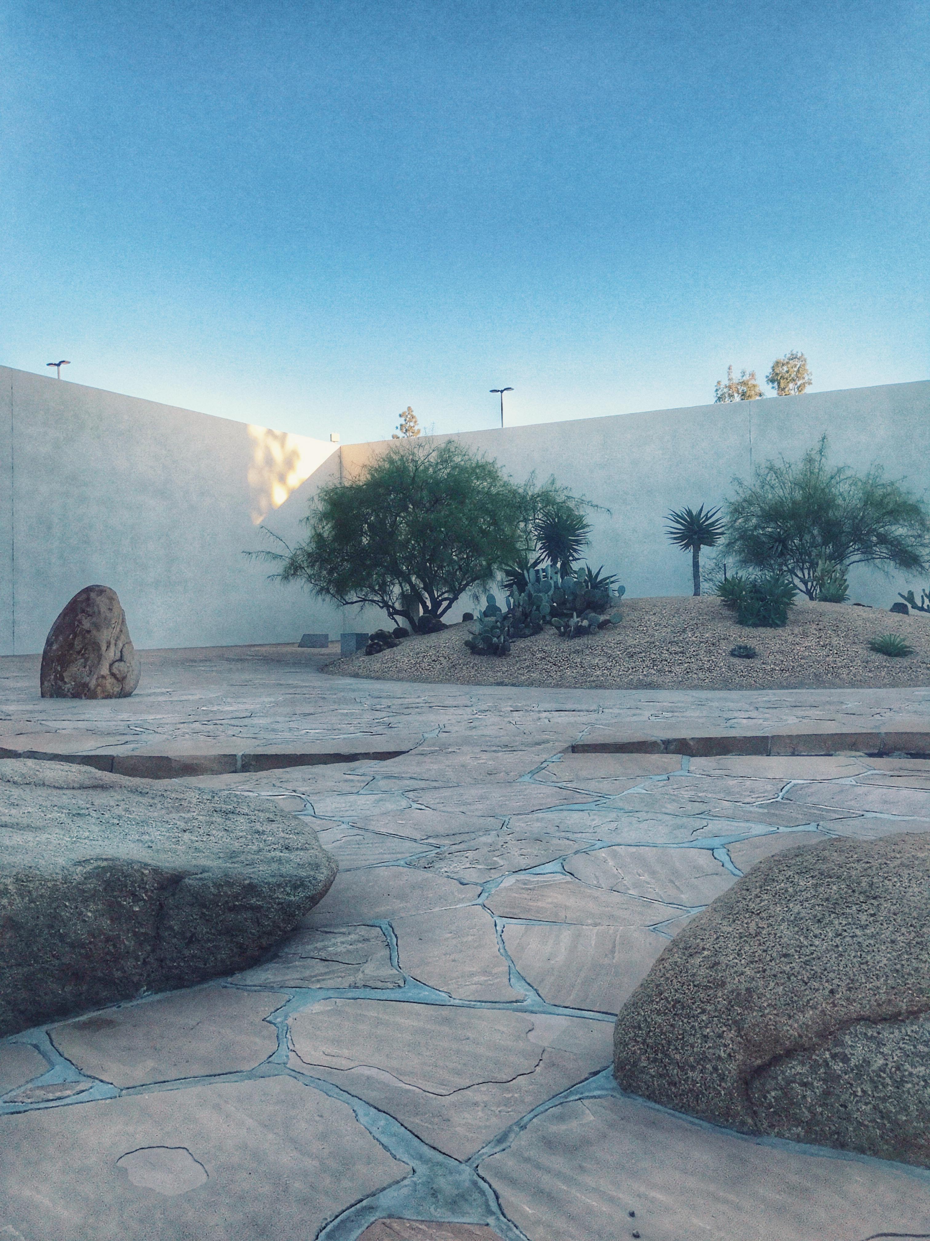 Hidden Noguchi Garden at South Coat Plaza