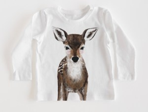 Baby deer shirt for your holiday gift list from Minted