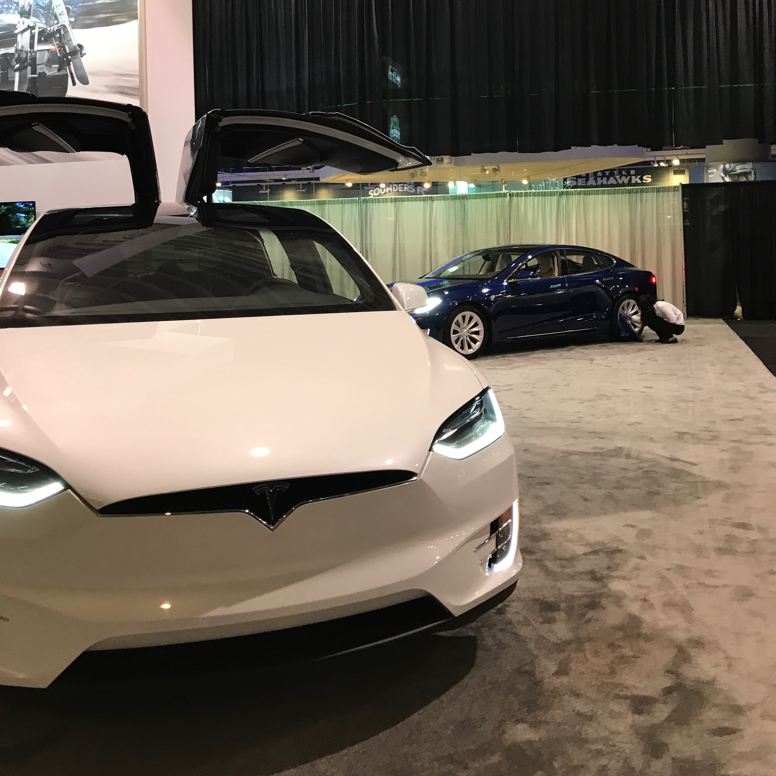 Tesla Model X at Seattle Auto Show