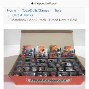 Example of Matchbox you can buy on ShopGoodwill site