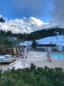 Kids love the pool at Whistler Pan Pacific Mountainside