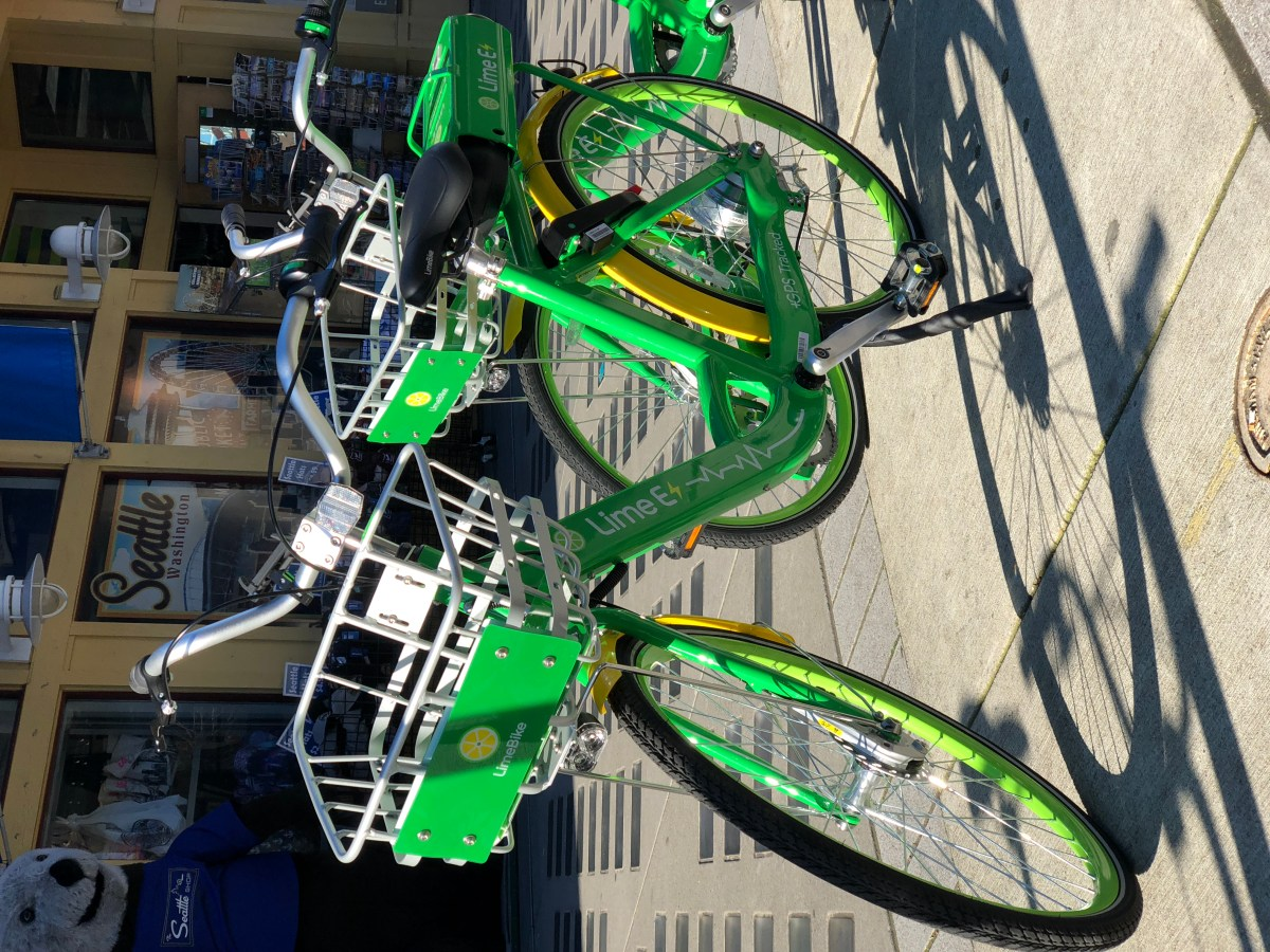 E-bike sharing in Seattle and where to get a foldable helmet