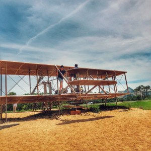 Visting Kittyhawk from Seattle with kids to see where the Wright brothers first flew in a replica of their airplane
