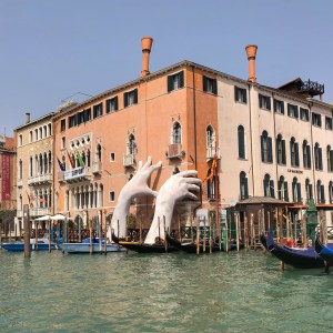 a family trip to Italy with a stop in Venice to see the hands in the water