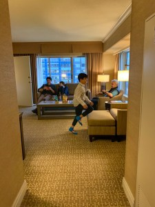 Suite room at Hyatt Regency Bellevue is great for multi-generational travel