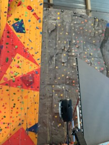 climbing wall at the ROX or the Richmond Oval Experience near Vancouver
