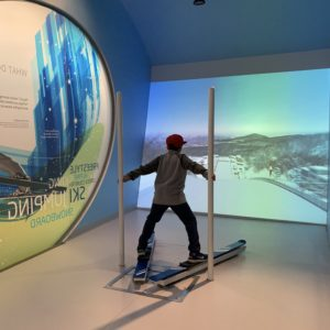 interactive virtual sports experiences at Richmond Oval Experience near Vancouver BC with kids