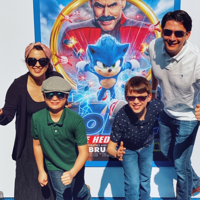 Walking the Blue Carpet at the Paramount Sonic Movie Family Day and Screening Event in Hollywood - An Emerald City Life
