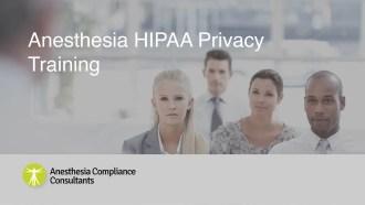 Anesthesia HIPAA Privacy