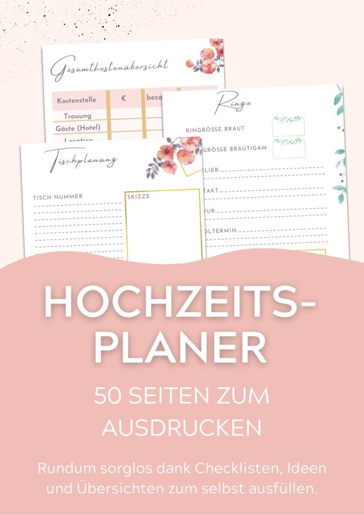 Hochzeitsplaner deutsch zum ausdrucken