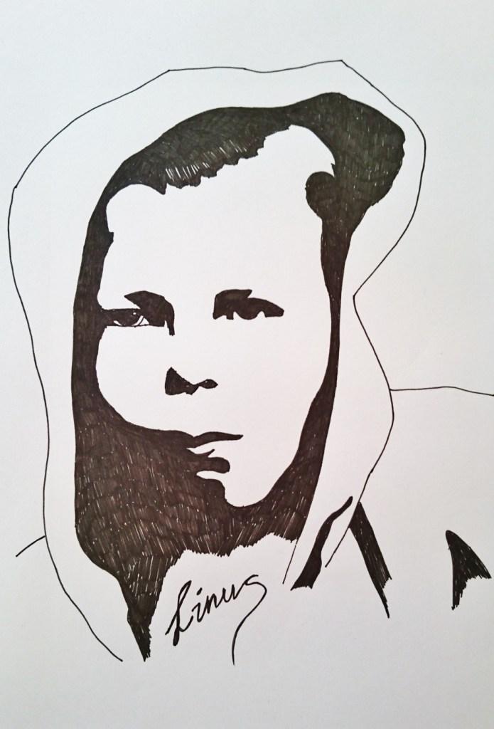 Teckning på Linus