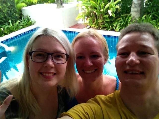 Selfie med Tora, Jens og Anette