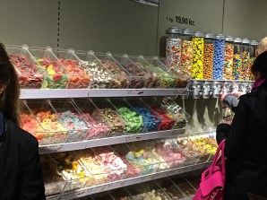 Norwegians love their candy. The movie theater has about four of these giant racks.