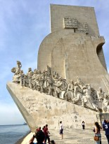 The Monument to the Discoveries, erected in 1960, commemorates the 500th anniversary of the death of Prince Henry the Navigator. (He's leading the charge at the front of the Portuguese caravel sailing ship.)