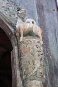 A closeup of the dragon / lion.