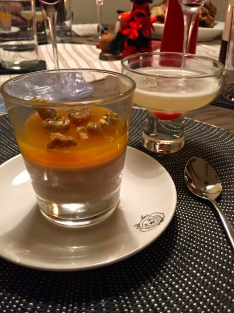 Cocktails and panna cotta.